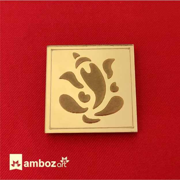 Ganesh Sticker For Wedding Card Name Sticker Amboz Art Rajkot